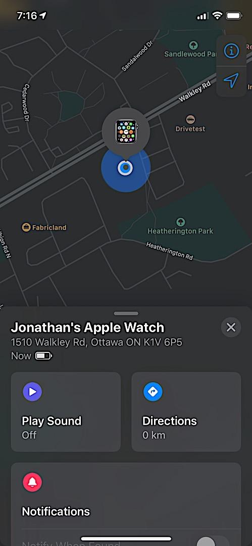 Найди меня в поисках Apple Watch