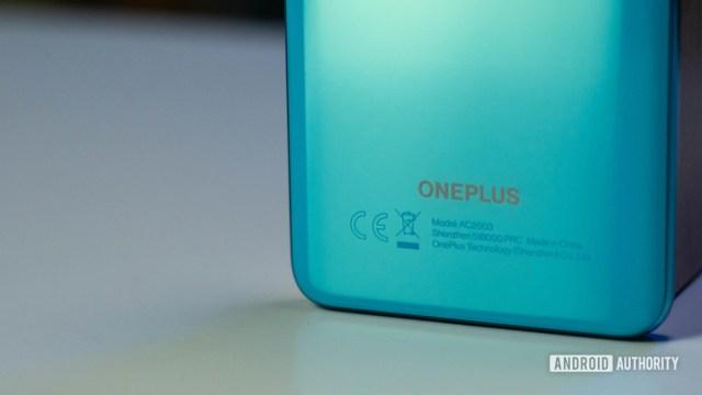 OnePlus Nord OnePlus logo branding