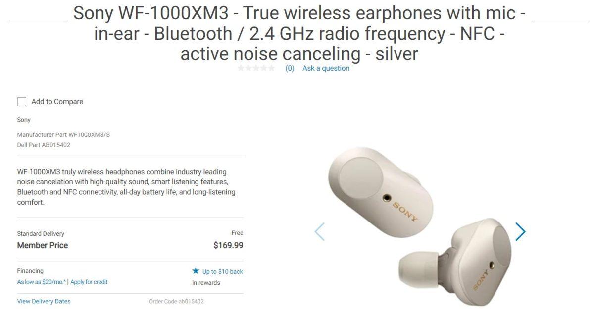 Sony WF 1000XM3 настоящие беспроводные наушники