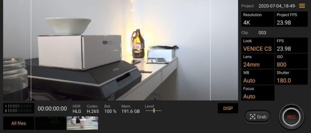 Приложение Sony Xperia 1 II cinema pro