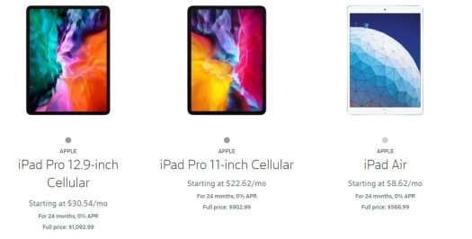 Xfinity Mobile Tablets