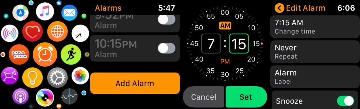 будильник для яблочных часов