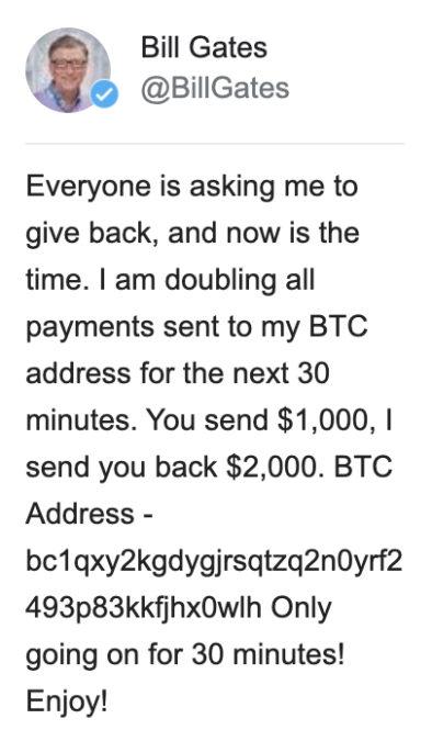 bill gates crypto twitter hack