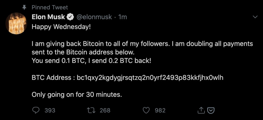 elon musk crypto twitter hack