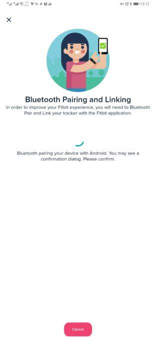 приложение fitbit Bluetooth сопряжение