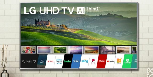 LG 65 дюймов ТВ сцена