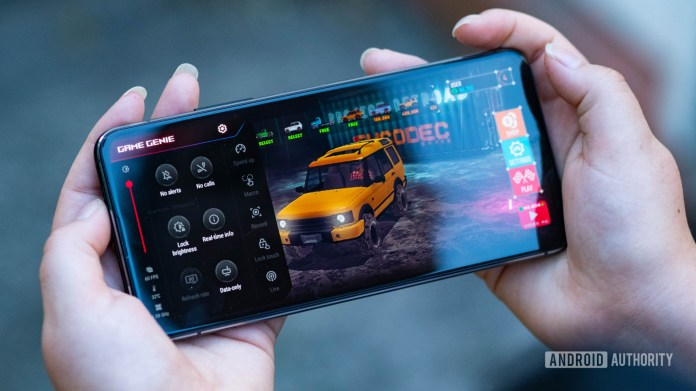Asus Zenfone 7 Pro Game Genie atop of Project Offroad 2