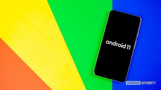 Android 11 stock photo with Google colors 5