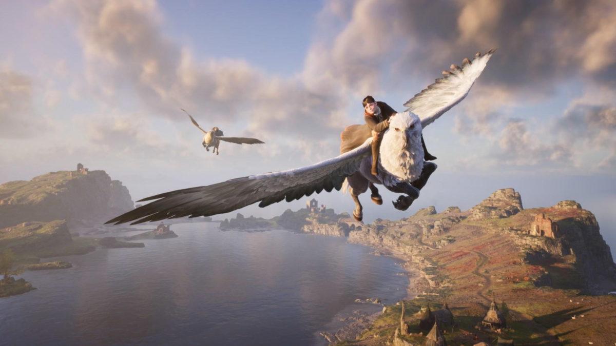 Hogwarts Legacy voando