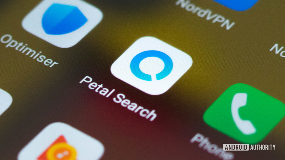 Значок приложения Huawei Petal Search в панели приложений Huawei