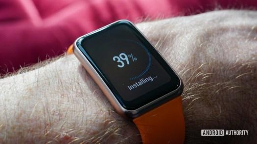 Huawei Watch Fit display updating