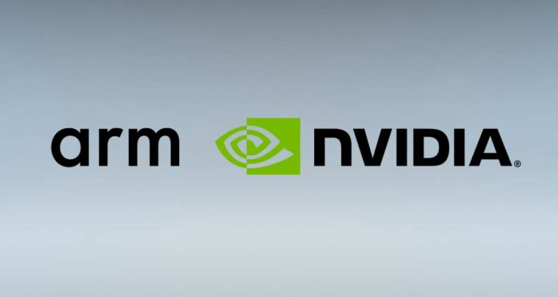 NVIDIA and Arm company logos
