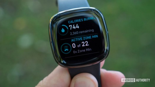 fitbit sense review calories burned active zone minutes today