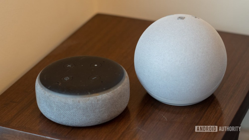 Echo Dot 2020 Comparison with the fourth generation old Echo Dot