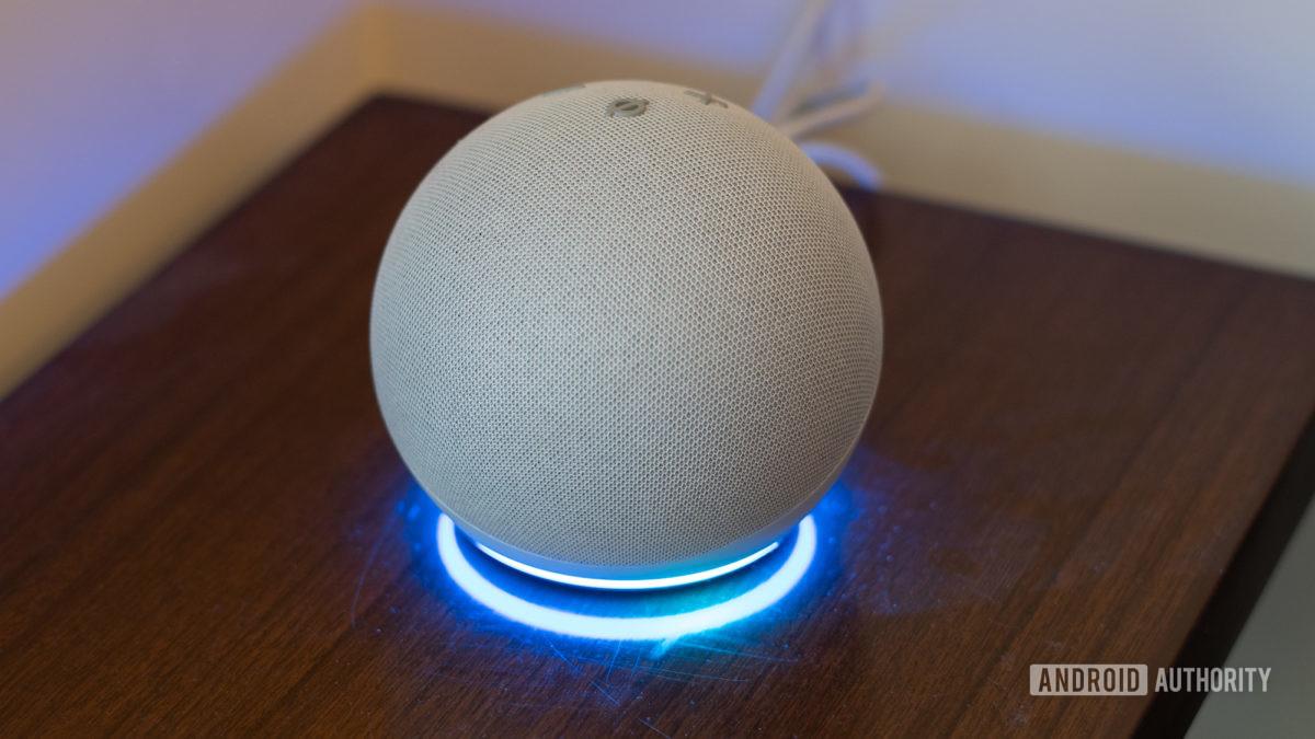 Echo Dot 2020 fourth generation ring of light 1