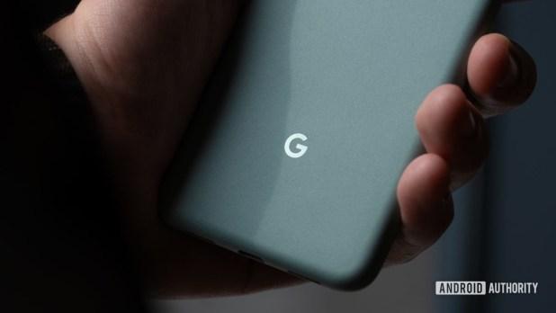 Google Pixel 5 Google Logo Macro