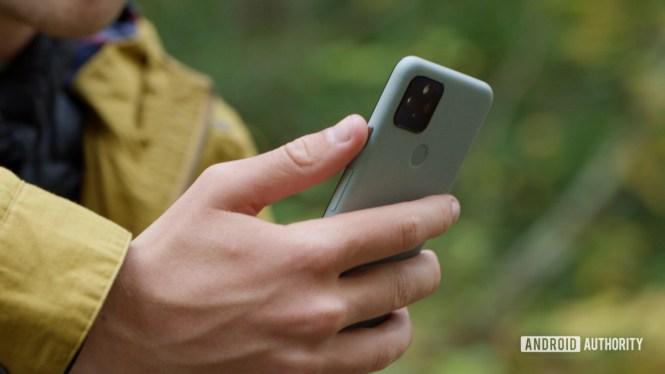 Google Pixel 5 in hand 1 1