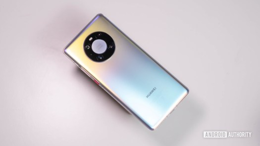Huawei Mate 40 Pro floating shot of the Mystic Silver finish