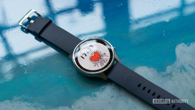 Mi Watch Revolve showing display and strap
