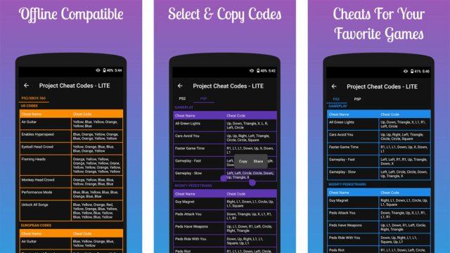Скриншот чит-кода проекта