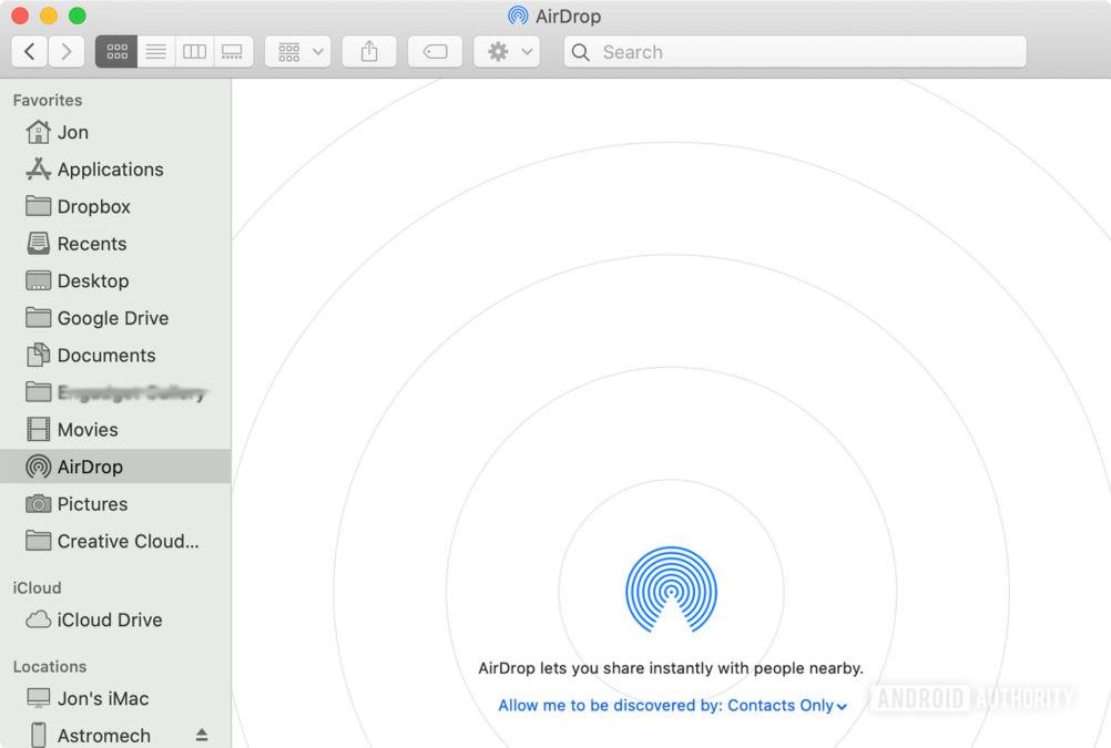 Airdrop Mac как 1