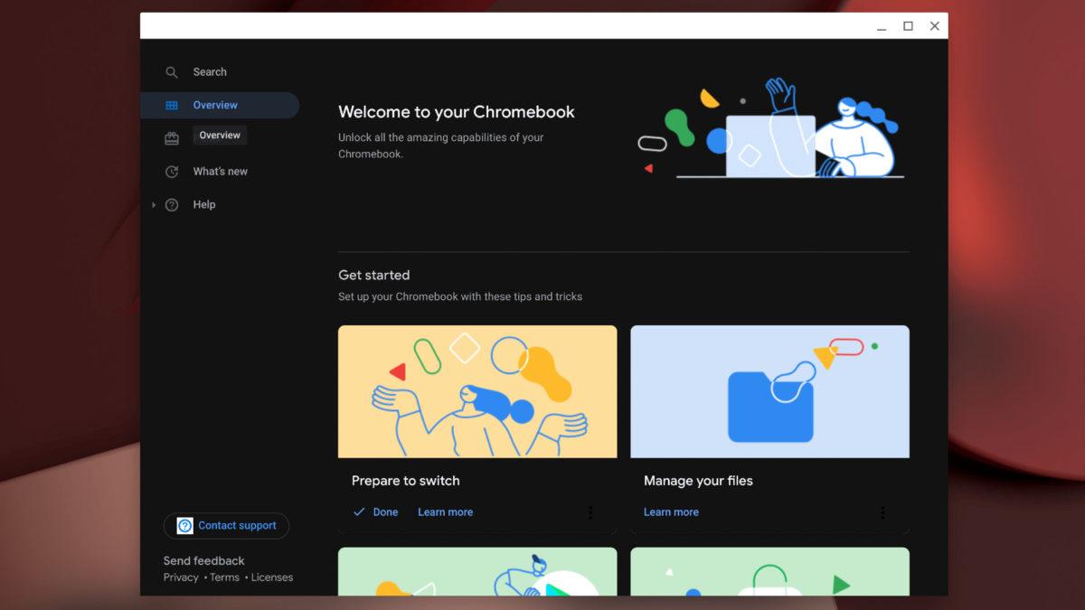 Темный режим Chrome OS