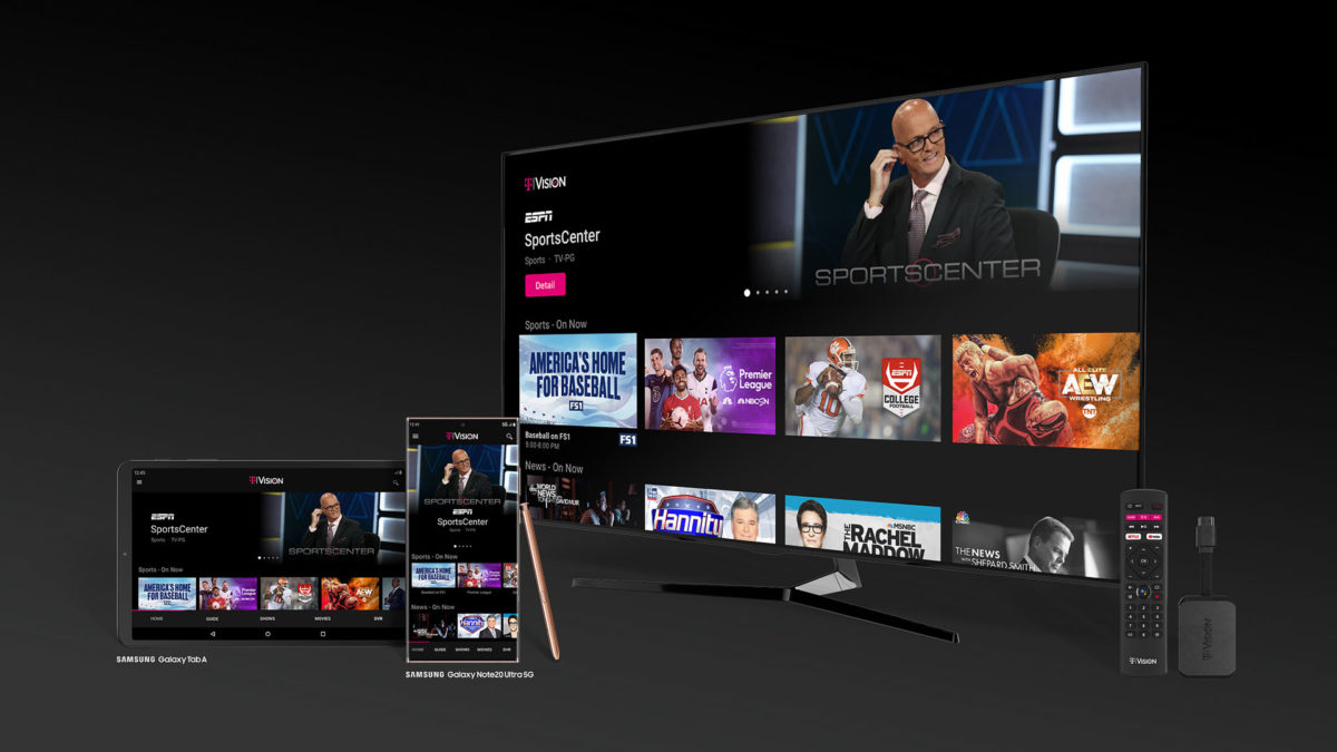 t mobile tvision streaming service android tv hub