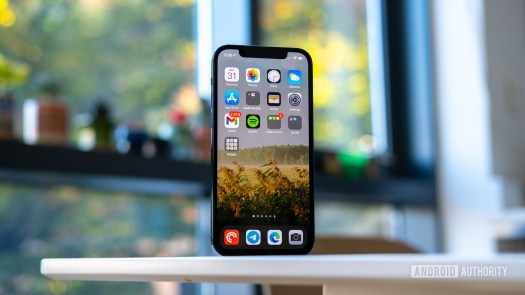 iPhone 12 Pro display on table