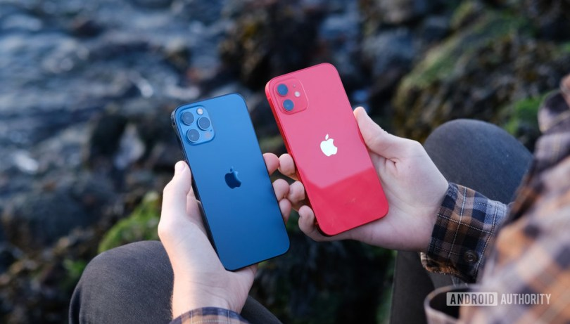 iPhone 12 Pro next to iPhone 12 Verizon deals