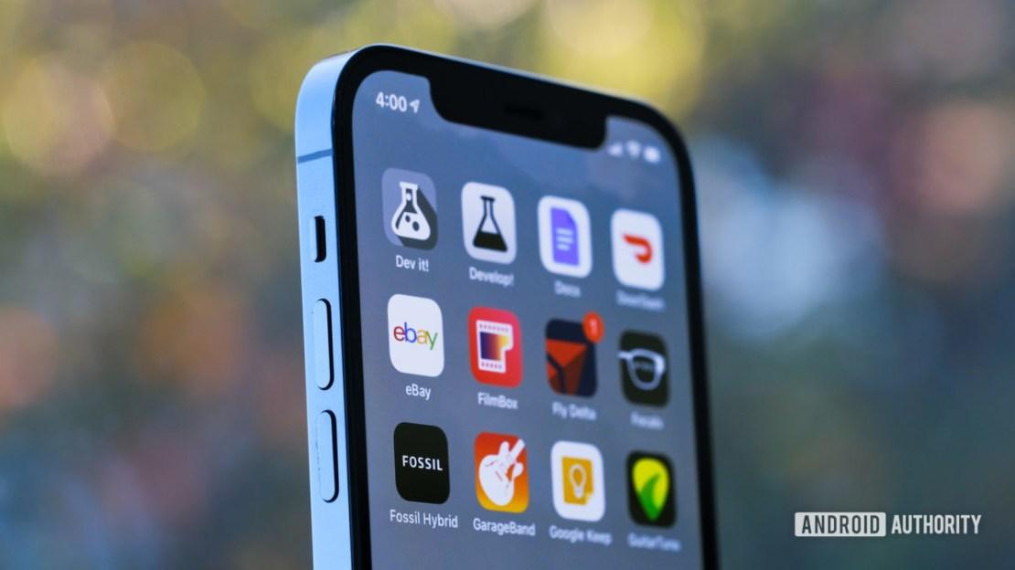 iPhone 12 Pro top half of screen 2