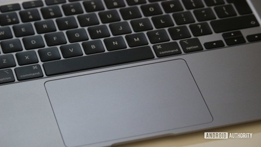 Apple MacBook Air M1 keyboard and trackpad