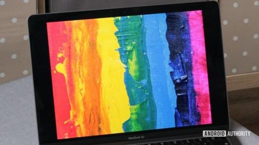 Apple MacBook Air M1 paint photo displayed on screen