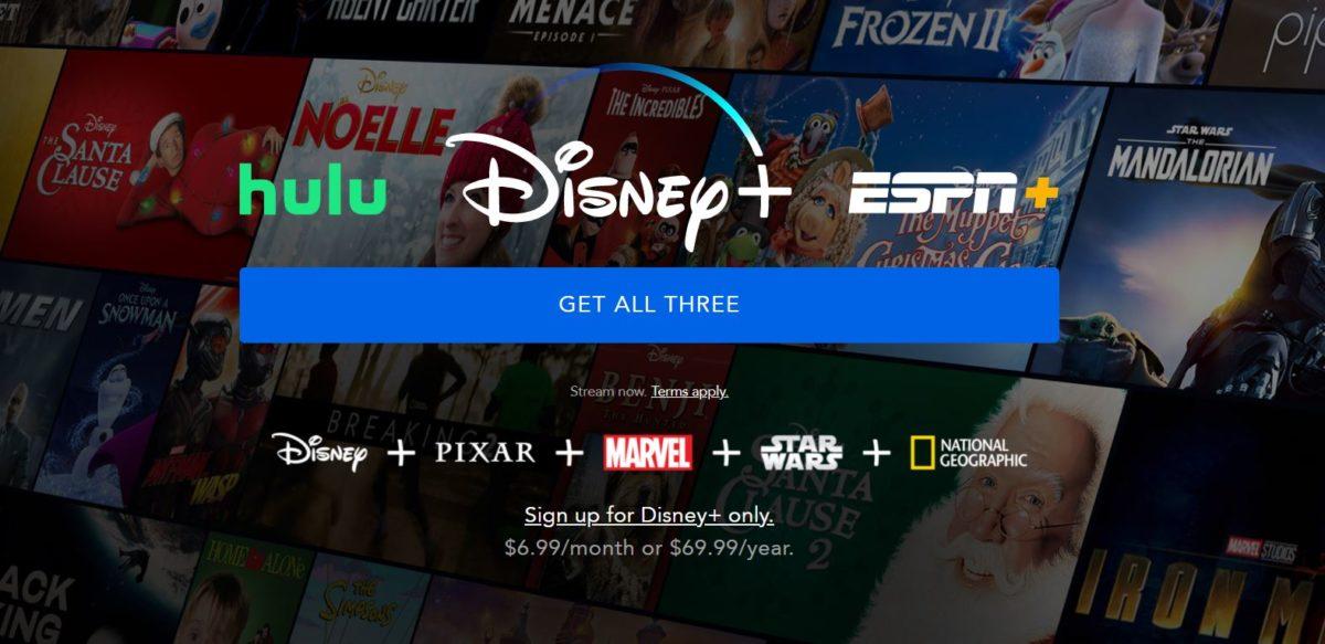 Pacote Disney Plus ESPN Plus Hulu