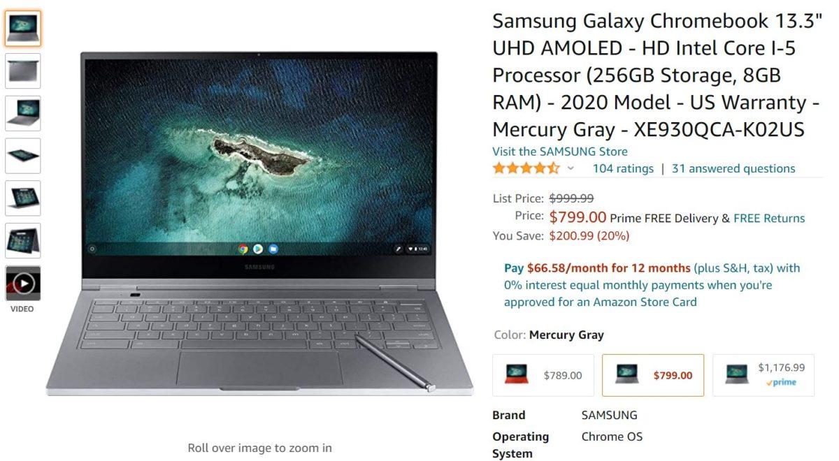 Oferta Samsung Galaxy Chromebook Amazon