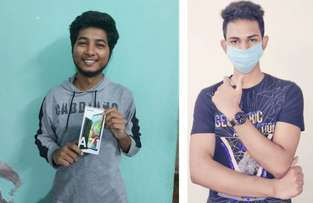 Shriganesh J ve Anshuman M hediye kazananları