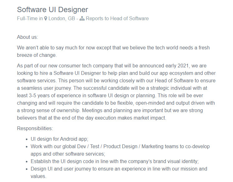 carl pei job listing android app