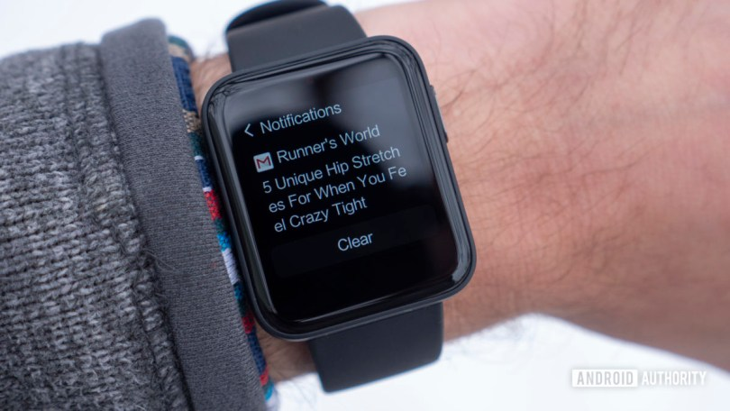 xiaomi mi watch lite review notifications on wrist email gmail
