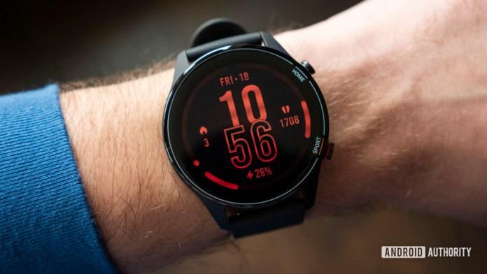 xiaomi mi watch review watch face display on wrist 2