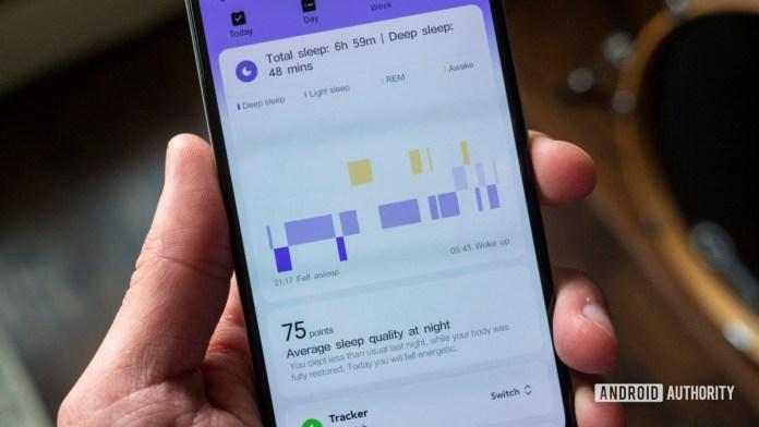 xiaomi mi watch review xiaomi wear app sleep tracking