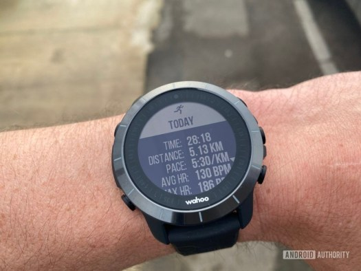 Running With Wahoo Elemnt Rival