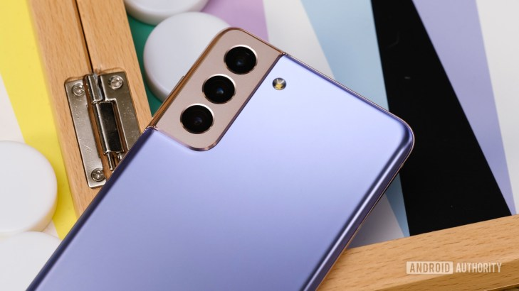 Samsung Galaxy S21 Plus back on table macro