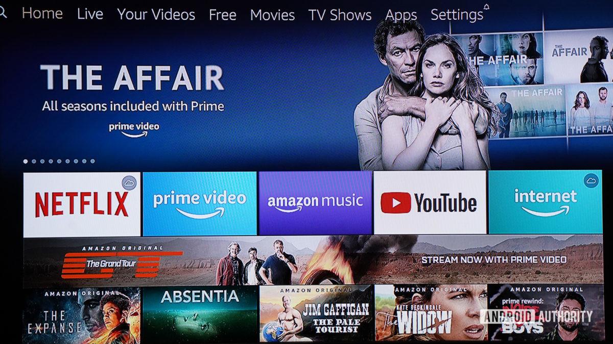 Sistema de menu Amazon Fire TV Cube