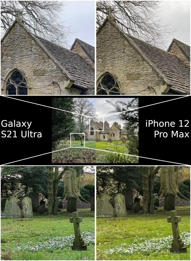 Detail Samsung Galaxy S21 Ultra vs Apple iPhone 12 Pro Max
