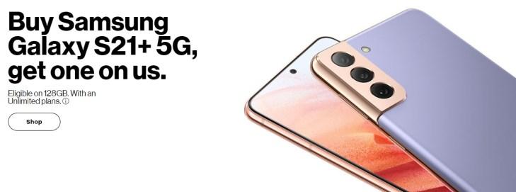 Verizon Galaxy S21 Deal