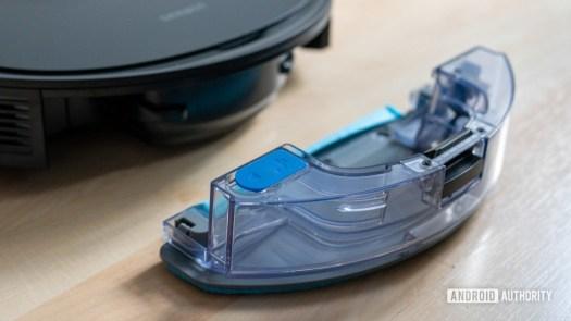 Ecovacs Deebot Ozmo N8 review water tank closeup