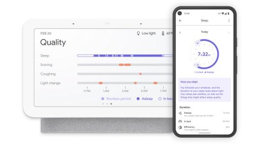 Google Nest Hub second generation and Google Fit