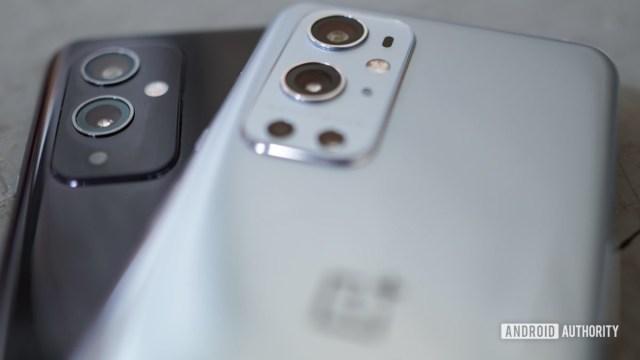 OnePlus 9 Pro vs OnePlus 9 low angle camera modules