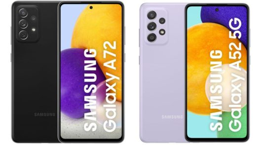 Samsung Galaxy A52 A72 5G official promo images