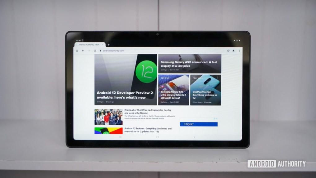 Samsung Galaxy Tab A7 display white