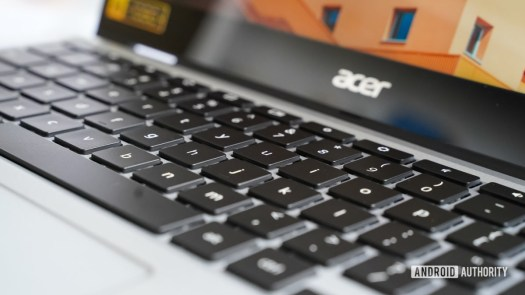 Acer Chromebook Spin 513 right keyboard